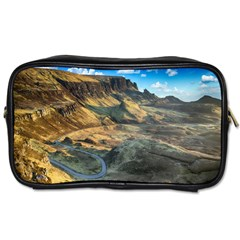 Nature Landscape Mountains Outdoor Toiletries Bags 2 Side