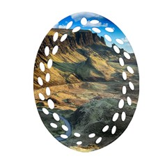 Nature Landscape Mountains Outdoor Oval Filigree Ornament (two Sides)