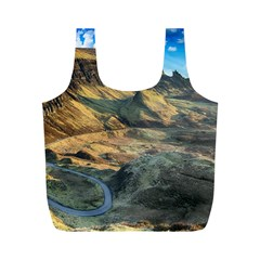 Nature Landscape Mountains Outdoor Full Print Recycle Bags (m)  by Celenk