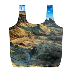 Nature Landscape Mountains Outdoor Full Print Recycle Bags (l)  by Celenk