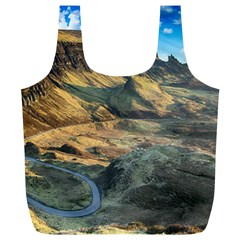 Nature Landscape Mountains Outdoor Full Print Recycle Bags (l)