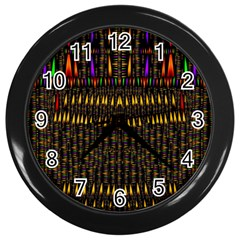 Hot As Candles And Fireworks In Warm Flames Wall Clocks (black) by pepitasart