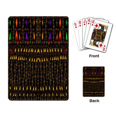 Hot As Candles And Fireworks In Warm Flames Playing Card by pepitasart