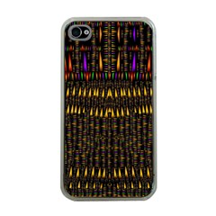 Hot As Candles And Fireworks In Warm Flames Apple Iphone 4 Case (clear) by pepitasart