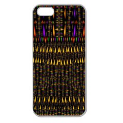Hot As Candles And Fireworks In Warm Flames Apple Seamless Iphone 5 Case (clear) by pepitasart