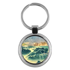 Coastline Sea Nature Sky Landscape Key Chains (round)