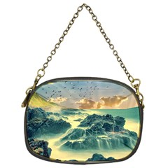 Coastline Sea Nature Sky Landscape Chain Purses (two Sides)