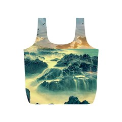 Coastline Sea Nature Sky Landscape Full Print Recycle Bags (s)