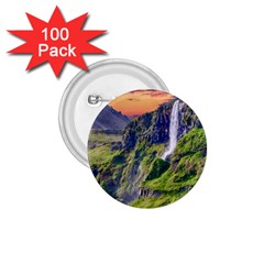 Waterfall Landscape Nature Scenic 1 75  Buttons (100 Pack)  by Celenk