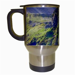 Waterfall Landscape Nature Scenic Travel Mugs (white)