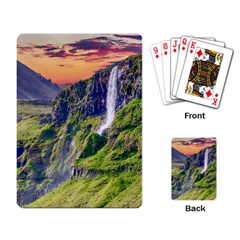 Waterfall Landscape Nature Scenic Playing Card by Celenk