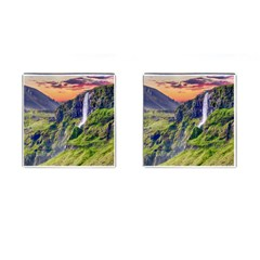 Waterfall Landscape Nature Scenic Cufflinks (square)