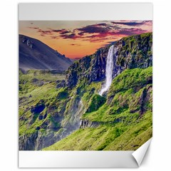 Waterfall Landscape Nature Scenic Canvas 11  X 14   by Celenk