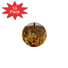 New York Empire State Building 1  Mini Magnet (10 Pack)  by Celenk