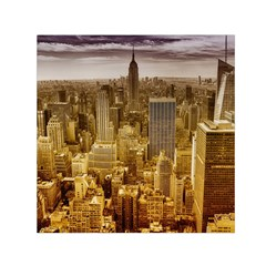 New York Empire State Building Small Satin Scarf (square) by Celenk