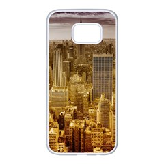 New York Empire State Building Samsung Galaxy S7 Edge White Seamless Case