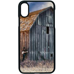 Banjo Player Outback Hill Billy Apple Iphone X Seamless Case (black) by Celenk