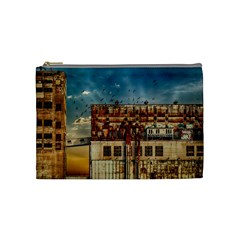 Ruin Abandoned Building Urban Cosmetic Bag (medium)  by Celenk