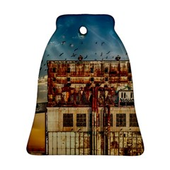 Ruin Abandoned Building Urban Bell Ornament (two Sides) by Celenk