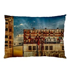 Ruin Abandoned Building Urban Pillow Case (two Sides)