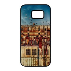 Ruin Abandoned Building Urban Samsung Galaxy S7 Edge Black Seamless Case