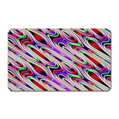 Multi Color Wave Abstract Pattern Magnet (rectangular)