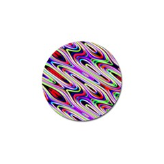 Multi Color Wave Abstract Pattern Golf Ball Marker (4 Pack)