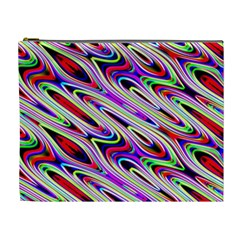 Multi Color Wave Abstract Pattern Cosmetic Bag (xl) by Celenk