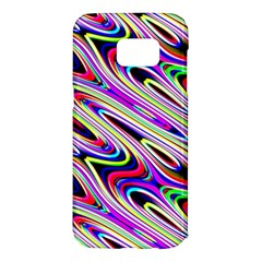Multi Color Wave Abstract Pattern Samsung Galaxy S7 Edge Hardshell Case by Celenk