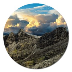 Landscape Clouds Scenic Scenery Magnet 5  (round)