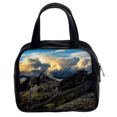 Landscape Clouds Scenic Scenery Classic Handbags (2 Sides) by Celenk