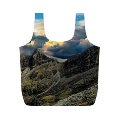 Landscape Clouds Scenic Scenery Full Print Recycle Bags (m)