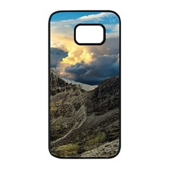 Landscape Clouds Scenic Scenery Samsung Galaxy S7 Edge Black Seamless Case by Celenk