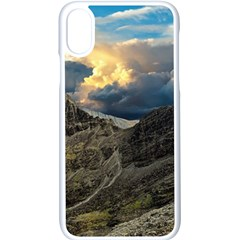 Landscape Clouds Scenic Scenery Apple Iphone X Seamless Case (white)