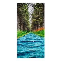 River Forest Landscape Nature Shower Curtain 36  X 72  (stall)