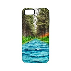 River Forest Landscape Nature Apple Iphone 5 Classic Hardshell Case (pc+silicone) by Celenk