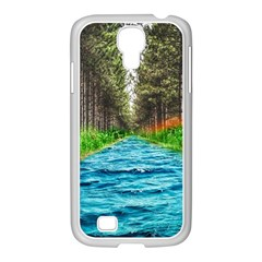 River Forest Landscape Nature Samsung Galaxy S4 I9500/ I9505 Case (white) by Celenk