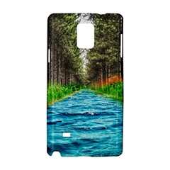 River Forest Landscape Nature Samsung Galaxy Note 4 Hardshell Case by Celenk