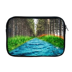 River Forest Landscape Nature Apple Macbook Pro 17  Zipper Case by Celenk