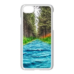 River Forest Landscape Nature Apple Iphone 8 Seamless Case (white)