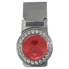 Red Wave Pattern Money Clips (cz)