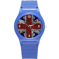 Union Jack Flag Uk Patriotic Round Plastic Sport Watch (s) by Celenk