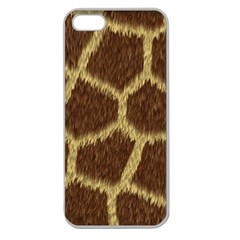 Background Texture Giraffe Apple Seamless Iphone 5 Case (clear) by Celenk