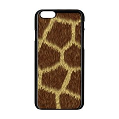 Background Texture Giraffe Apple Iphone 6/6s Black Enamel Case