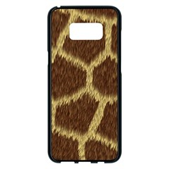 Background Texture Giraffe Samsung Galaxy S8 Plus Black Seamless Case