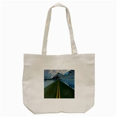 Road Ice Landscape Tote Bag (cream)