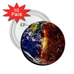 Climate Change Global Warming 2 25  Buttons (10 Pack)  by Celenk