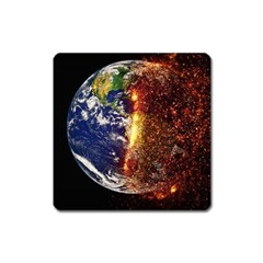 Climate Change Global Warming Square Magnet