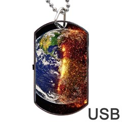 Climate Change Global Warming Dog Tag Usb Flash (two Sides)