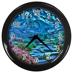Pathway Nature Landscape Outdoor Wall Clocks (black)